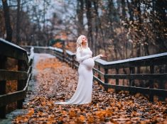Maternity gown photography George Bridge Scottsville, NY