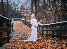 Maternity gown photography George Bridge Scottsville, NY