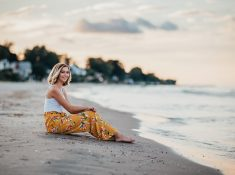 Senior Photography at Ontario County Beach Pier, Rochester, NY