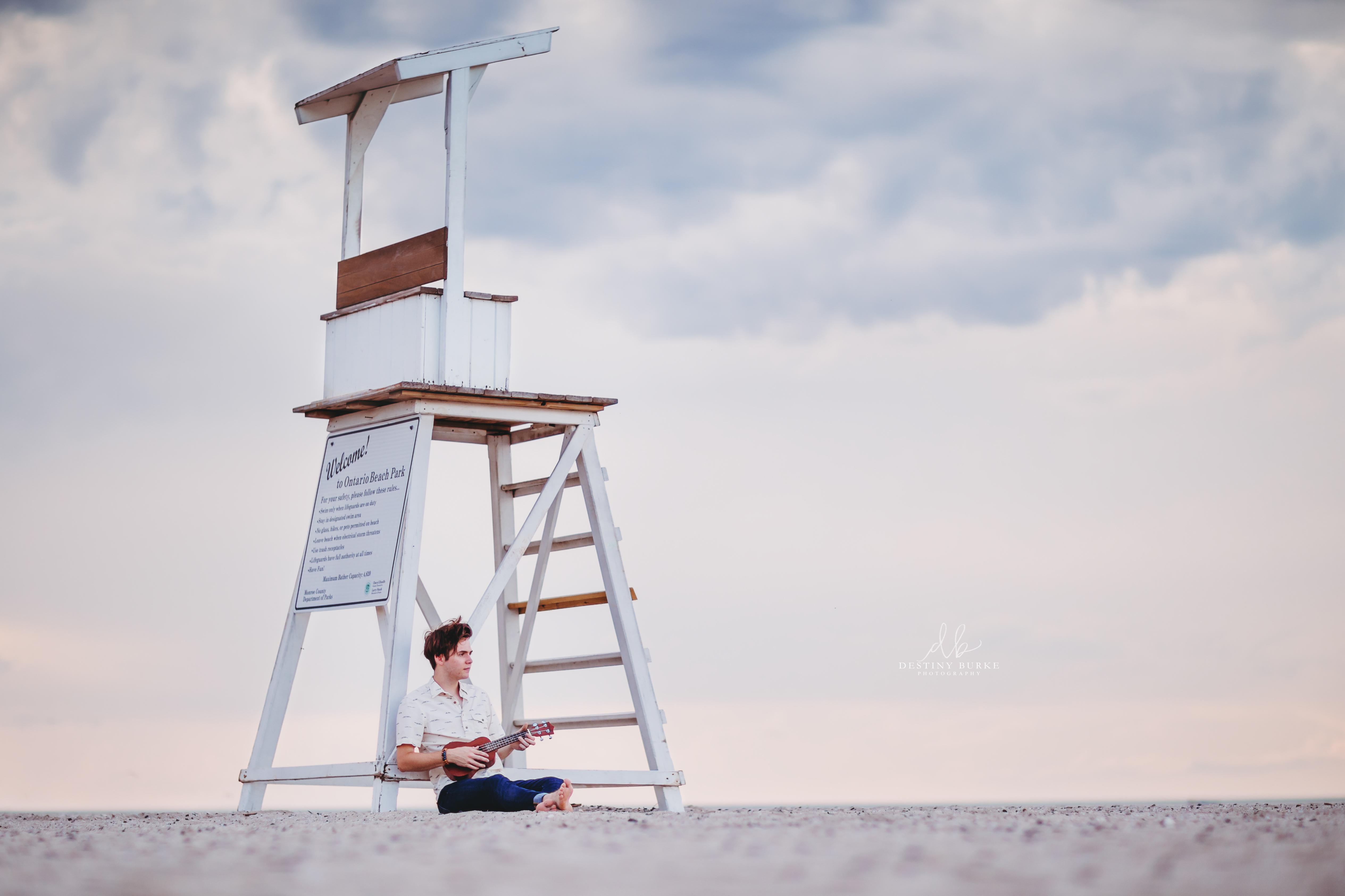 Senior Photography at Ontario County Beach Pier, Rochester, NY
