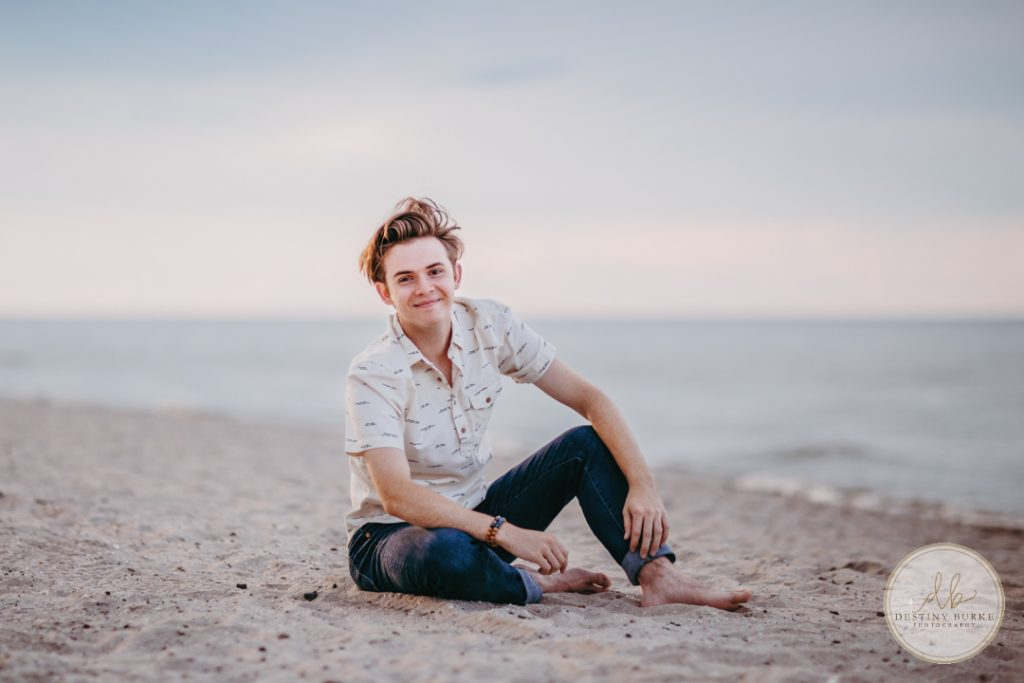 Senior Photography Ontario County Park Beach Pier