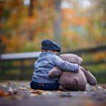 Child Boy with Teddy Bear Scottsville, NY George Bridge