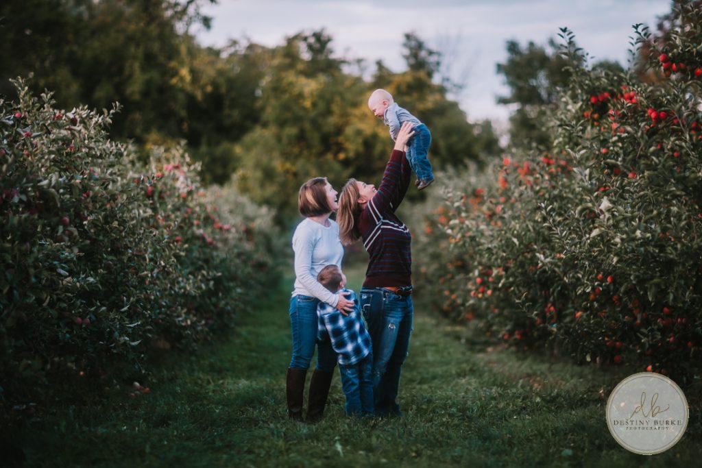 Family Photography Robbs Apple Tree Farm Brockport, NY