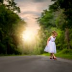 Girl on backroad, Children photography, photographer, Rochester, NY