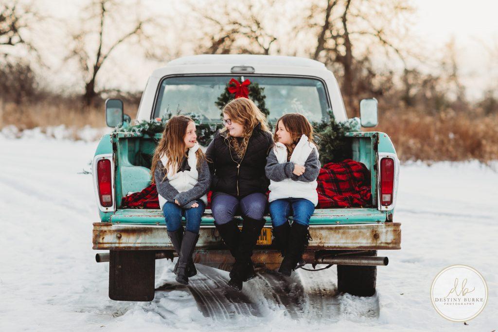 Christmas, truck, mini, sessions, family